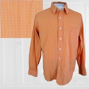 J Crew mens dress shirt sz L 16-16.5 orange long